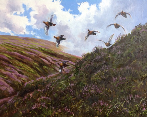 Jonathan Yule, Grouse Over. Oil on canvas